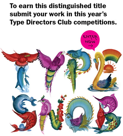 Enter the TDC Typography Competition